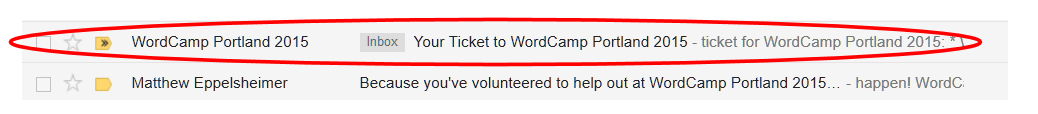 WordCamp PDX 2015 - Email Confirmation