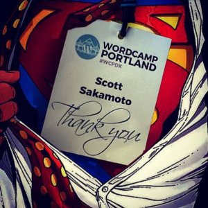 WordCamp Thank You Instagram Image by Scott Sakamoto for WordCamp Portland.