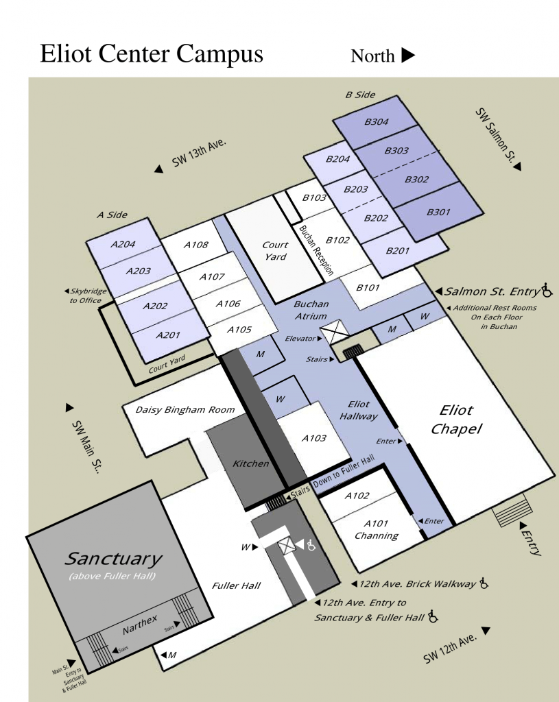 Map of the Eliot Center Graphic